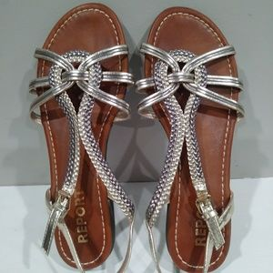 Like New. REPORT Greek style sandals.
